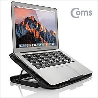 Coms 노트북 쿨링 패드 / 저소음 / 140mm 대형팬 /블랙