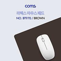 Coms 마우스 패드(라텍스) - Brown